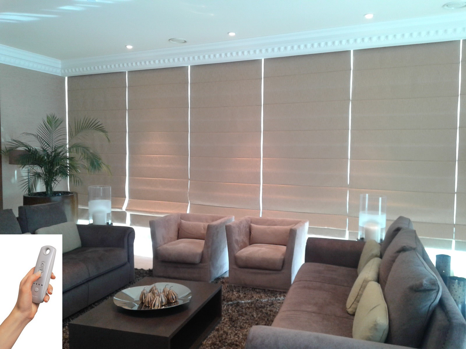 Al Barsha Curtains And Blinds Motorized Roman Blinds 1