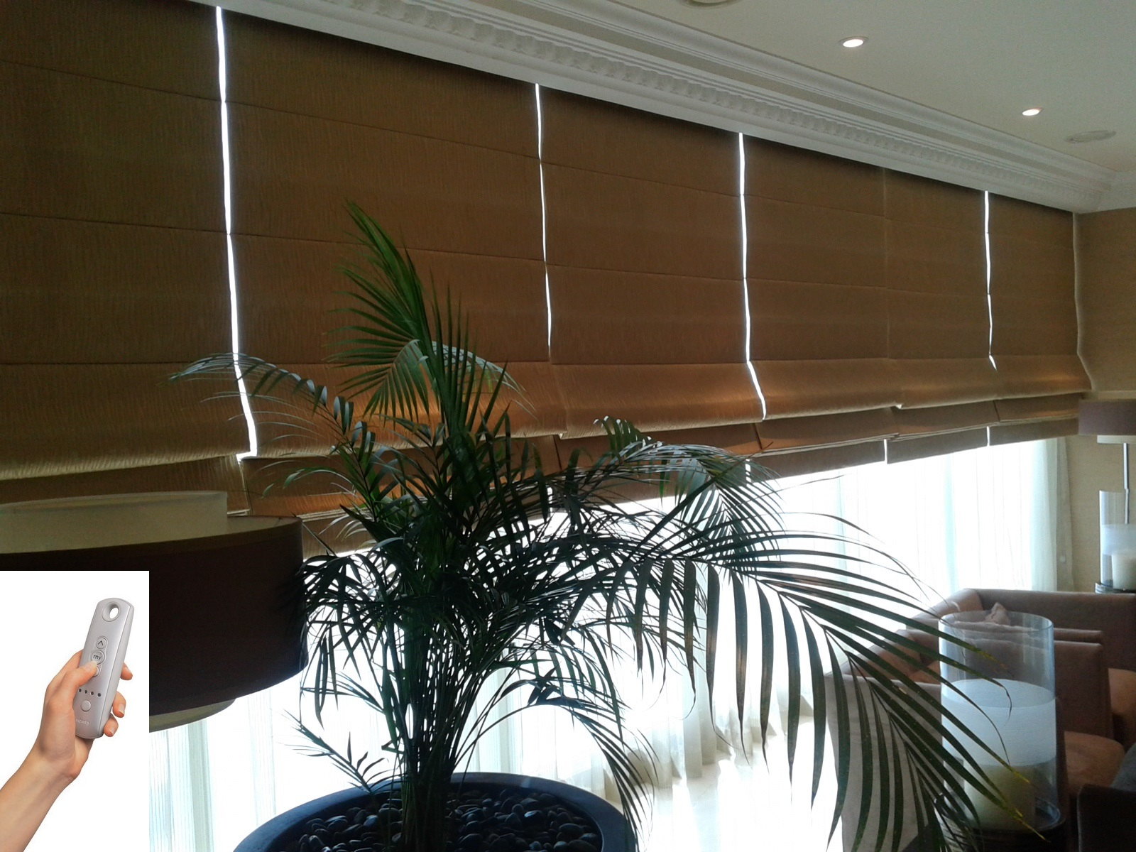 Al Barsha Curtains And Blinds Motorized Roman Blinds 2